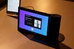 同社のタブレットにドッキングするスピーカーとして利用可能