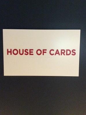 今回の取材は「ハウス・オブ・カード」の部屋で