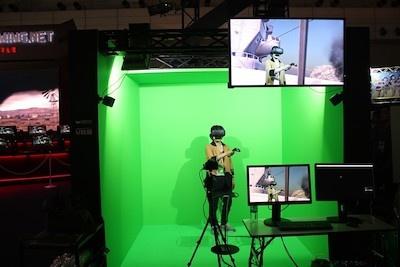 VR、体験中!