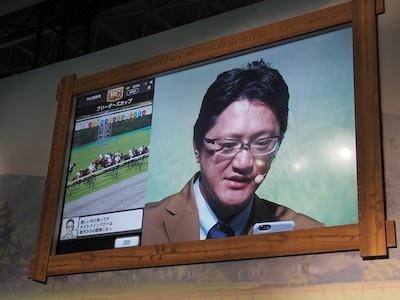 実況バトルの前に、司会の船山さんが、お手本としてゲーム画面を見ながら実況を披露。プロならではの流暢な実況アナウンスに、2人からは「速い」「無理」の声が
