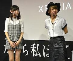 高木美佑さん(左)、澁谷梓希さん(右)は大のゲーム好き声優として呼ばれた。お互いにリズムゲームが大好きという