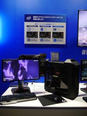 最新のCore i7搭載パソコンと、3年前や5年前のパソコンを比べたコーナー。最新パソコンのベンチマークスコアは5年前のものの約4倍