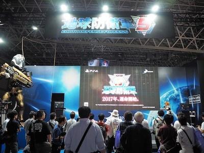 ゲーム大会やスペシャルLIVEが行われるディースリー・パブリッシャーのステージ