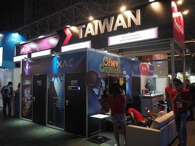 台湾ゲーム館には18の企業が参加。日本企業からの受託開発に関する商談が主目的だという