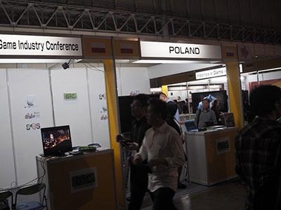 ポーランドからは3つのゲーム会社も参加しているそうだが、出展の主な目的は東欧版ゲームショウのアピールが大きいとのこと