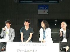 「Project LayereD」を手掛けるスタッフ陣。左から順に、手塚晃司氏、内藤裕紀氏、塩田周三氏、松山洋氏