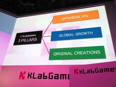 KLabは日本のIP、海外展開、オリジナルIPの3つに力を入れる戦略をとっているとのこと