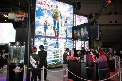 『甲鉄城のカバネリ -乱- 始まる軌跡』のコーナーは、奥にある原画展もチェックしよう