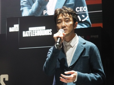 まずはPUBG Corp.のCEO、キム・チャンハン氏が「PUBG」の現状などをスピーチ