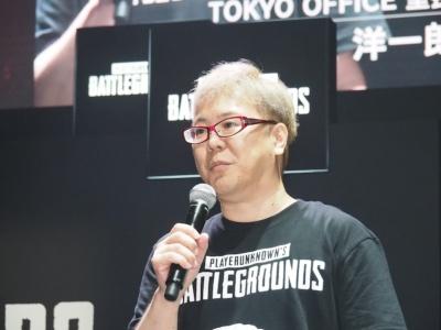 PUBG JAPANが日本のeスポーツ振興に向けて打つ施策などを発表したPUBG JAPAN TOKYO OFFICEの室長、井上洋一郎氏