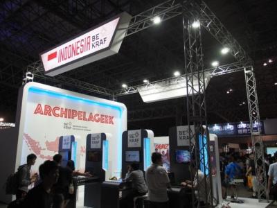 「ニュースターズコーナー」には今年も、インドネシアやマレーシアなど多くの海外企業や政府機関が出展していた