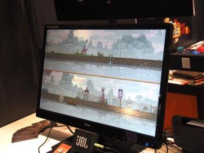PCやモバイル向け以外を手掛ける企業もあり、インディーゲームのパブリッシャー、Raw Furyは『KINGDOM:TWO CROWNS』というゲームをNintendo Switchでデモ