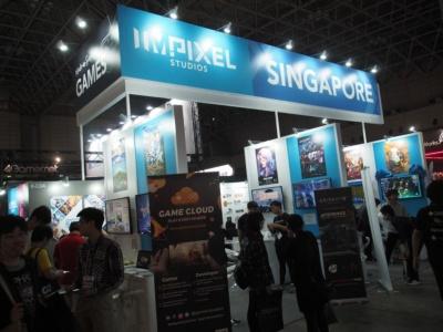 シンガポールのPIXEL STUDIOSは同国の中小ゲーム企業を支援する機関で、同ブースには12の企業が出展している