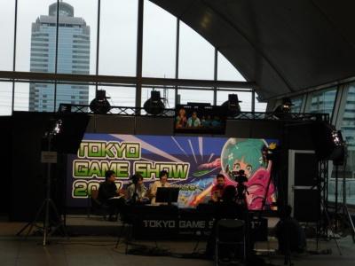 「TGS公式動画チャンネル(niconico)」特設ブース。ホール9-11の2階エスペラード奥に設置されている