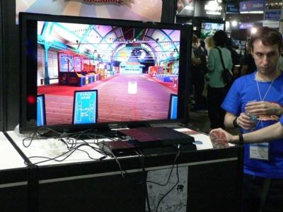 VR空間に出現したゲームセンター。どことなく懐かしさを感じさせる