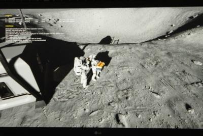 VR空間上で、複数人による月面探索を楽しめる