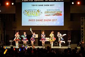 「IM@S GAME SHOW 2017」に登場した6名の声優陣。会場に集まったプロデューサーからは大きな歓声が上がった