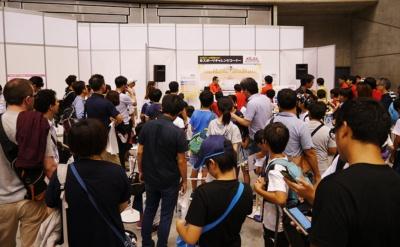 9月23日は、中学生以下の子どもたちによる『太鼓の達人 Nintendo Switchば~じょん!』の大会が行われた。開始30分前にすでに大盛況