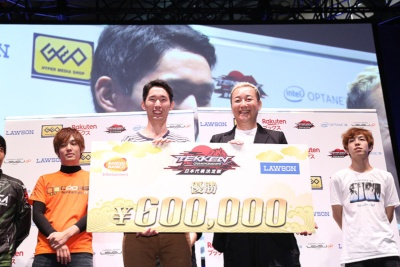 優勝した破壊王選手は、日本代表選手の権利と賞金60万円を手にした。このような大きな大会で優勝するのは初めてという