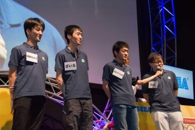 準決勝に残った4人。この時点で新世代はMATTYAN選手ただひとり。飛車ちゅう選手とともに、3位となった