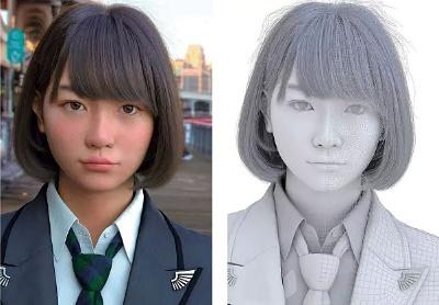 実写にしか見えない、謎の3DCGキャラ「Saya」。写真やスキャンを使用せず、手描きで作り込まれたCGは、もはや実写に見えるほどの緻密さ。15年に発表されると、大反響を呼んだ (C)2015-2017 TELYUKA