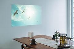 壁に投影した場合の利用イメージ