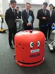 中西金属工業の「ROBO Cleaper」。障害物や人を自動で避けるだけでなく、避けたことを記憶しておき、後で改めて掃除する自動床洗浄ロボット。英国の大英博物館などでも稼働中だとか