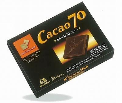 森永製菓の「カレ・ド・ショコラ<カカオ70>」を薄い板状にしたのは口溶けの良さや口に入れた時の香りの立ち方などを細かく計算した結果だという