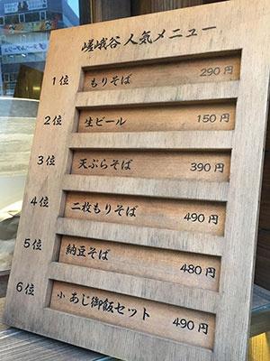 嵯峨谷は生ビール(プレミアムモルツ)のジョッキが常時150円という驚きの価格