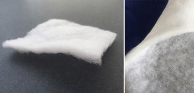 フルレンジの正体はこれ。複数のポリエステル繊維から作られている。ダウンと違って繊維移動を起こしにくいため、安定した保温力が得られる