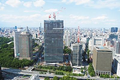 工事が進む「東京ガーデンテラス紀尾井町」。7月27日オープン予定