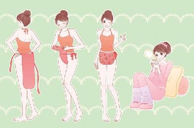 1回つければ簡単に覚えられる。aifunの越中ふんどしは腰の横でひもを結ぶが、おへその下で結ぶタイプもある(イラスト提供:aifun)