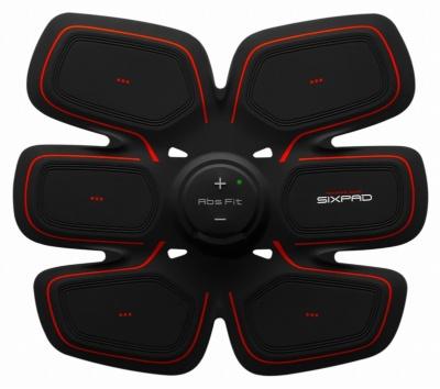 腹筋専用の「シックスパッド アブズフィット 2」」(直販価格2万5800円)。充電式なので電池交換が不要。Bluetoothを搭載しており、スマートフォンのアプリを使って日々のデータを記録できる