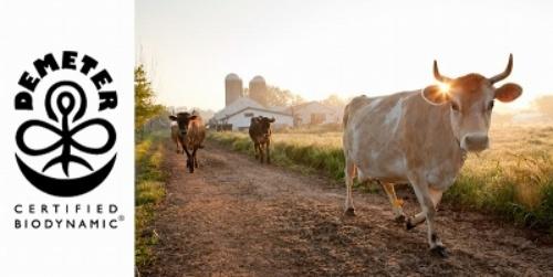 バイオダイナミックの認定農場のイメージと、認定マーク