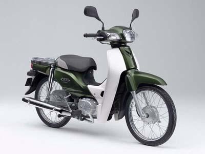 世界的名車、ホンダ「スーパーカブ」。よく走り、燃費がよく、壊れない。現在は中国で生産されており、50ccと110ccモデルで、同じボディーを使用する