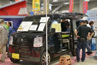 「リゾートデュオ バス・キング」はstage21の看板モデル。展示車両の価格は201万7000円