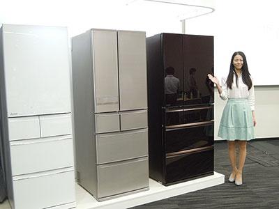 新機能「朝どれ野菜室」を搭載した三菱冷蔵庫WXシリーズ、JXシリーズ、Bシリーズ