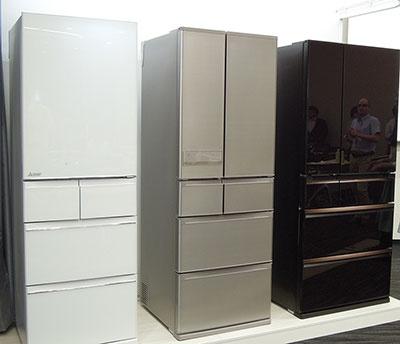 三菱冷蔵庫、WXシリーズ「MR-WX70A-BR」、JXシリーズ「MR-JX60A-N」、Bシリーズ「MR-B46A-W」