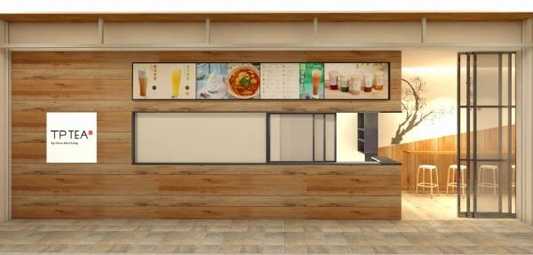 春水堂のテイクアウト中心の新ブランド「TP TEA」。日本1号店は2018年7月20日にニュウマン新宿のエキナカにオープン。台湾では春水堂が40店舗、TP TEAは250店舗ほどあるという