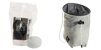 左:ブラックダイヤモンド「ホワイトゴールド50gチョークボール」(756円)、右:ブラックダイヤモンド「ウルトラライトチョークバッグ」(3300円)