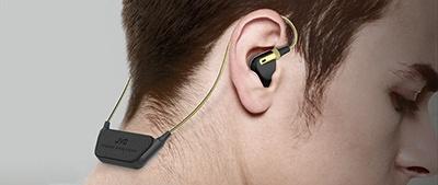 首の後ろにバッテリーや音声処理回路などを収めた本体ユニットがくる形