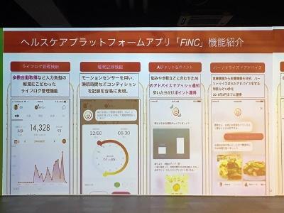 FiNCの機能をほぼそのまま特茶スマートアプリに提供しているという
