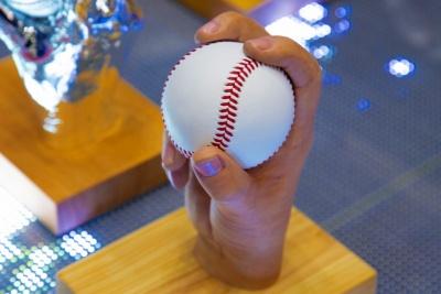 「ボールを握った手の形」をきっちり決めて型取りするのがミソ