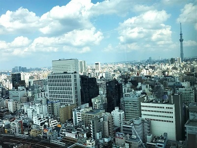 上野フロンティアタワーは高さが約117mあり、周辺に高層ビルが少ないため、オフィスからは上野公園はもとより、スカイツリー、東京ドームまで見える