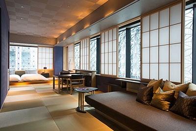 3人用の角部屋「菊」は83平米の広さ。ぜいたくそのもの