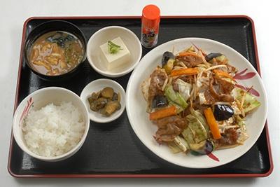 「豚肉と五種野菜の味噌炒め定食」(790円)