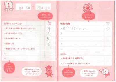 3・4年生用はフォーマットは低学年向けとほぼ変わらないが、漢字などの表記をその学年で読めるものに変更している