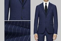 CG で製作された生地とスーツの画像。アプリ上で生地の質感と仕上がりイメージを確認できる