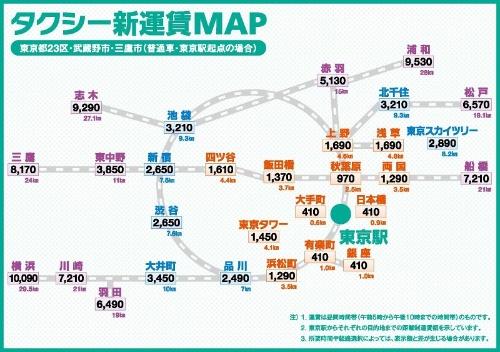 現在は東京駅起点の運賃マップしかないが、今後は新宿や品川駅起点のマップも作成する予定とのこと