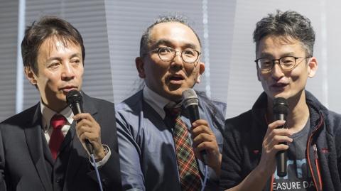 左からハートコアの神野氏、IDOMの村田氏、トレジャーデータの堀内氏。「ジャーニーオーケストレーション」に関する3人のトークセッションは終始、熱気に満ちあふれていた